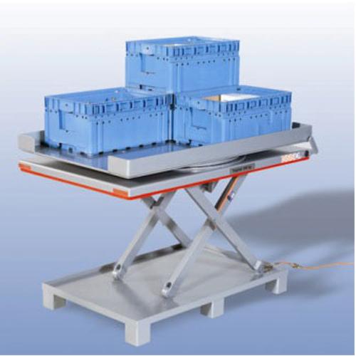 Dźwigniki nożycowe płaskie - platforma pełna