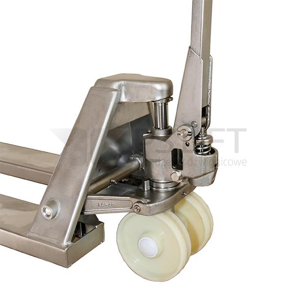 Wózek paletowy ręczny ze stali szlachetnej PS 20-115 NTN Huzar inox