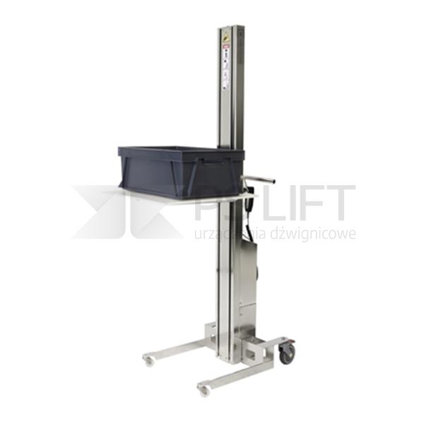 Wózek unoszący elektryczny ze stali szlachetnej WP SS (udźwig do 300 kg)