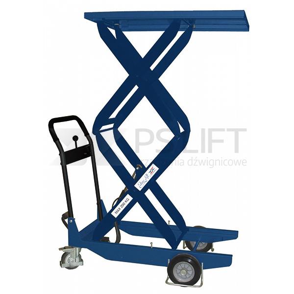 Wózek platformowy nożycowy - seria CZ (z pompą nożną)