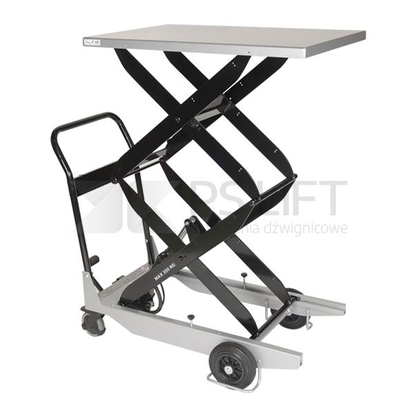 Wózek platformowy nożycowy - seria TZ (z pompą nożną)