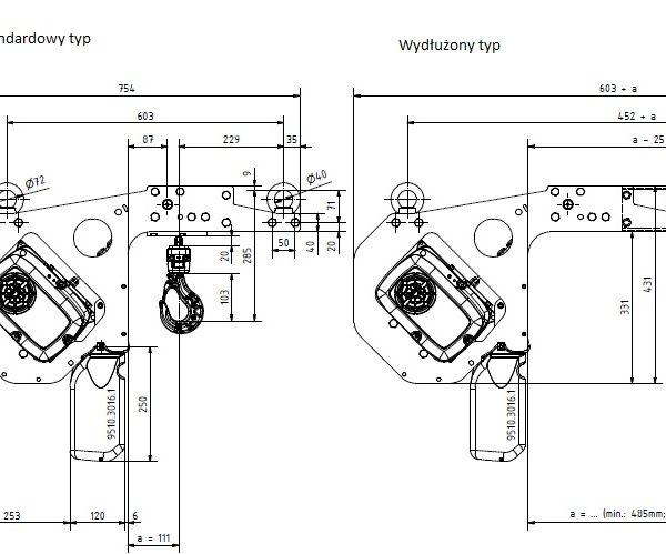 Wciągnik łańcuchowy elektryczny do niskiej zabudowy PS-GPK