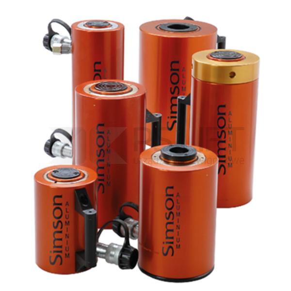 Cylinder hydrauliczny aluminiowy z powrotem sprężynowym