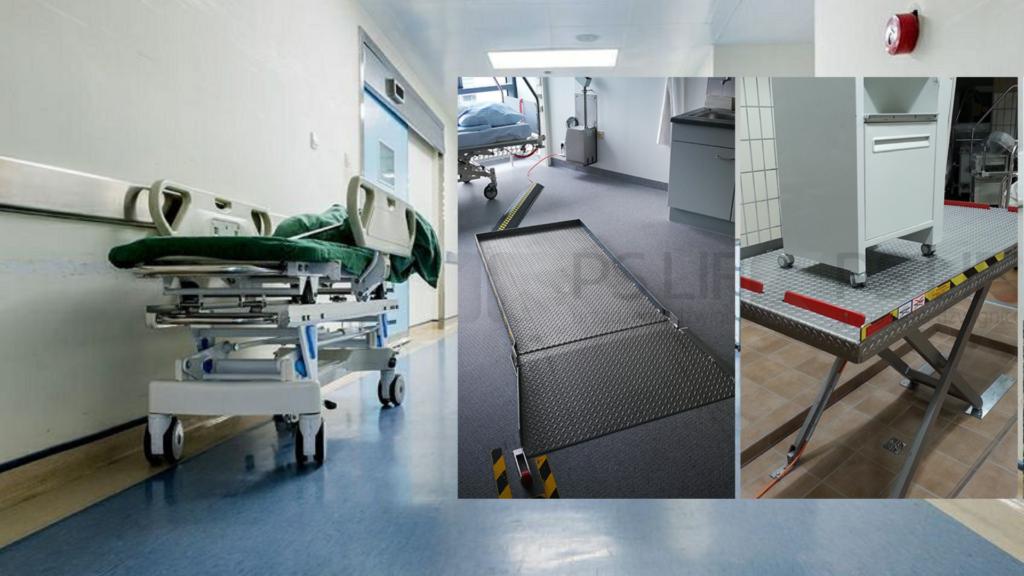 Dźwigniki do łóżek szpitalnych