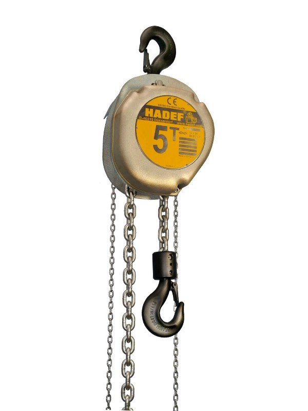 Wciągnik łańcuchowy ręczny HADEF (duże udźwigi)